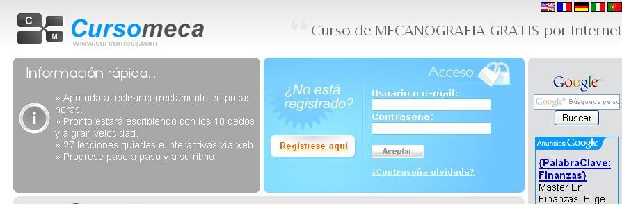 Aprender mecanografía Online