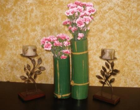 Manualidades con bambú
