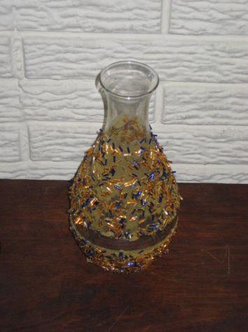Decoracion de jarrones o floreros de cristal
